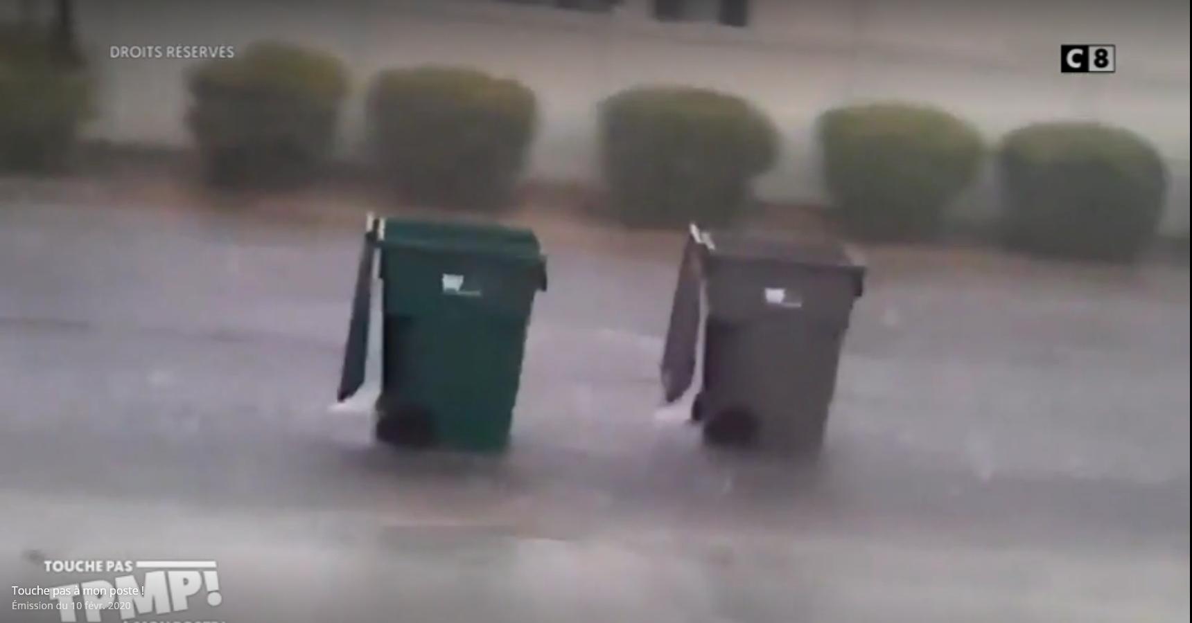 "Fragment programu ""Touche pas a mon poste!"" z wideo o koszach na śmieci"