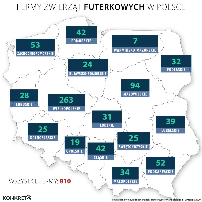 Fermy zwierząt futerkowych w Polsce