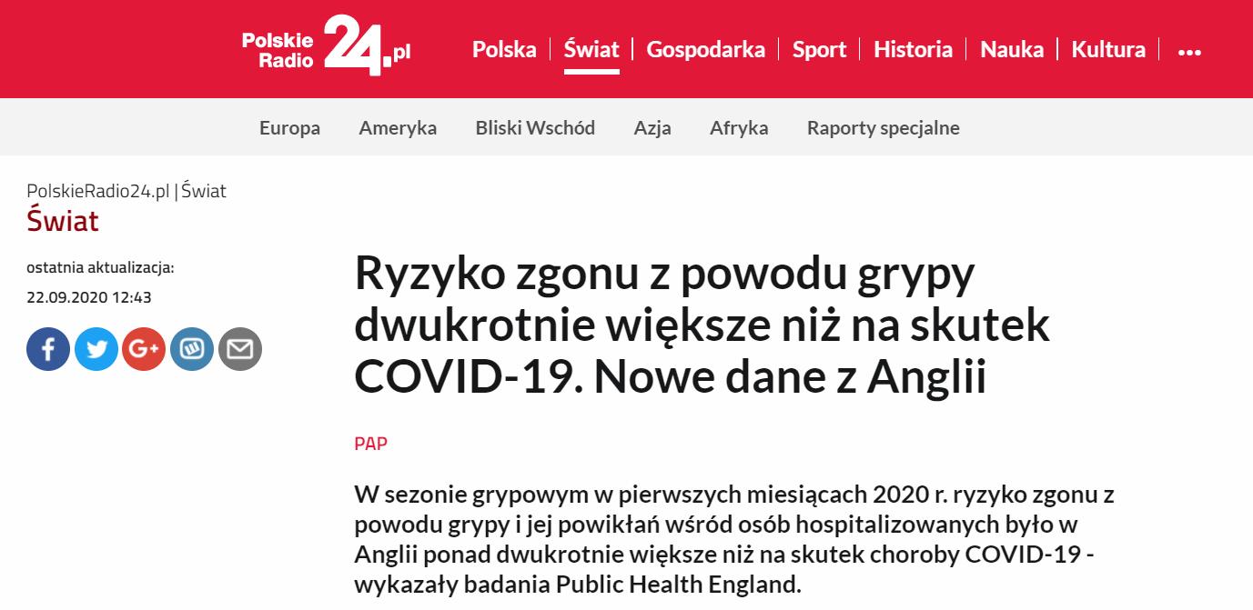 Fragment artykułu na stronie polskieradio24.pl