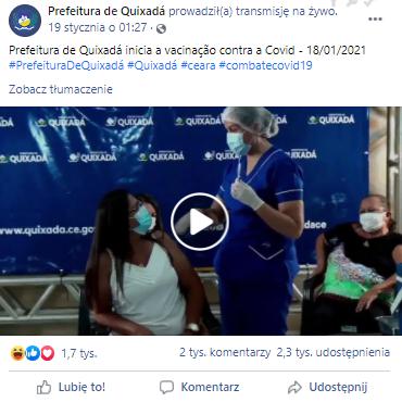 Akcja szczepień w ratuszu w Quixadá
