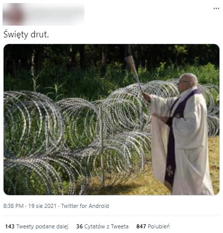 """Święty drut"""" kolczasty na granicy? Sprawdzamy popularne zdjęcie"""