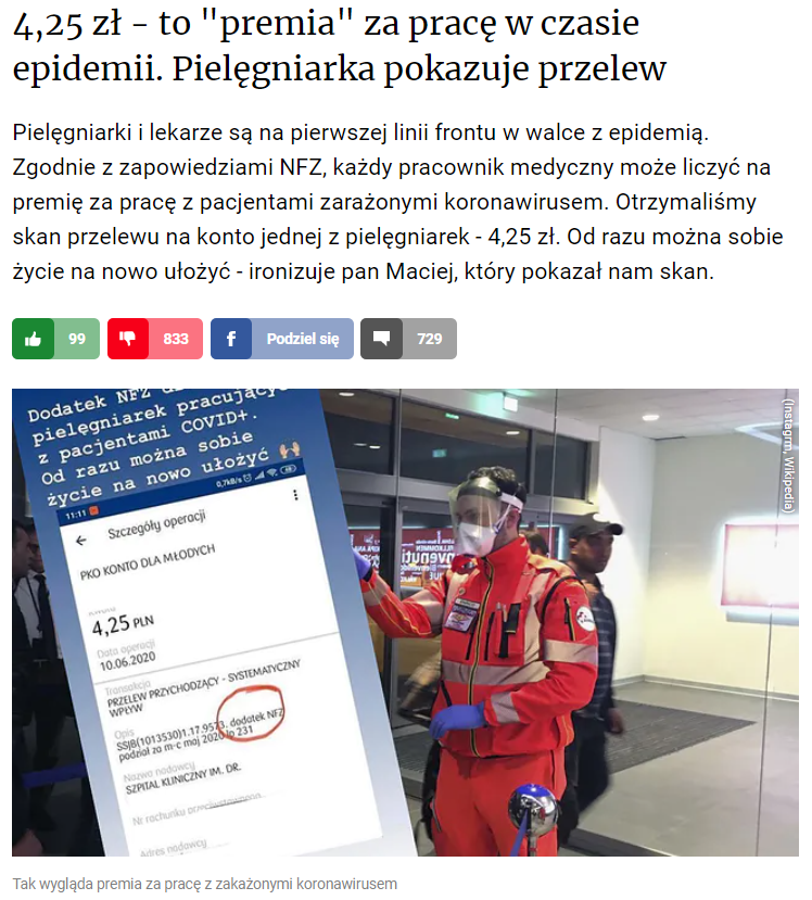 Fragment artykułu portalu money.pl
