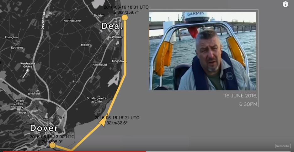 Ujęcia, które rzekomo pokazują koniec przerzutu nielegalnych migrantów, zrealizowane zostały - wg Channel 4 - jako pierwsze